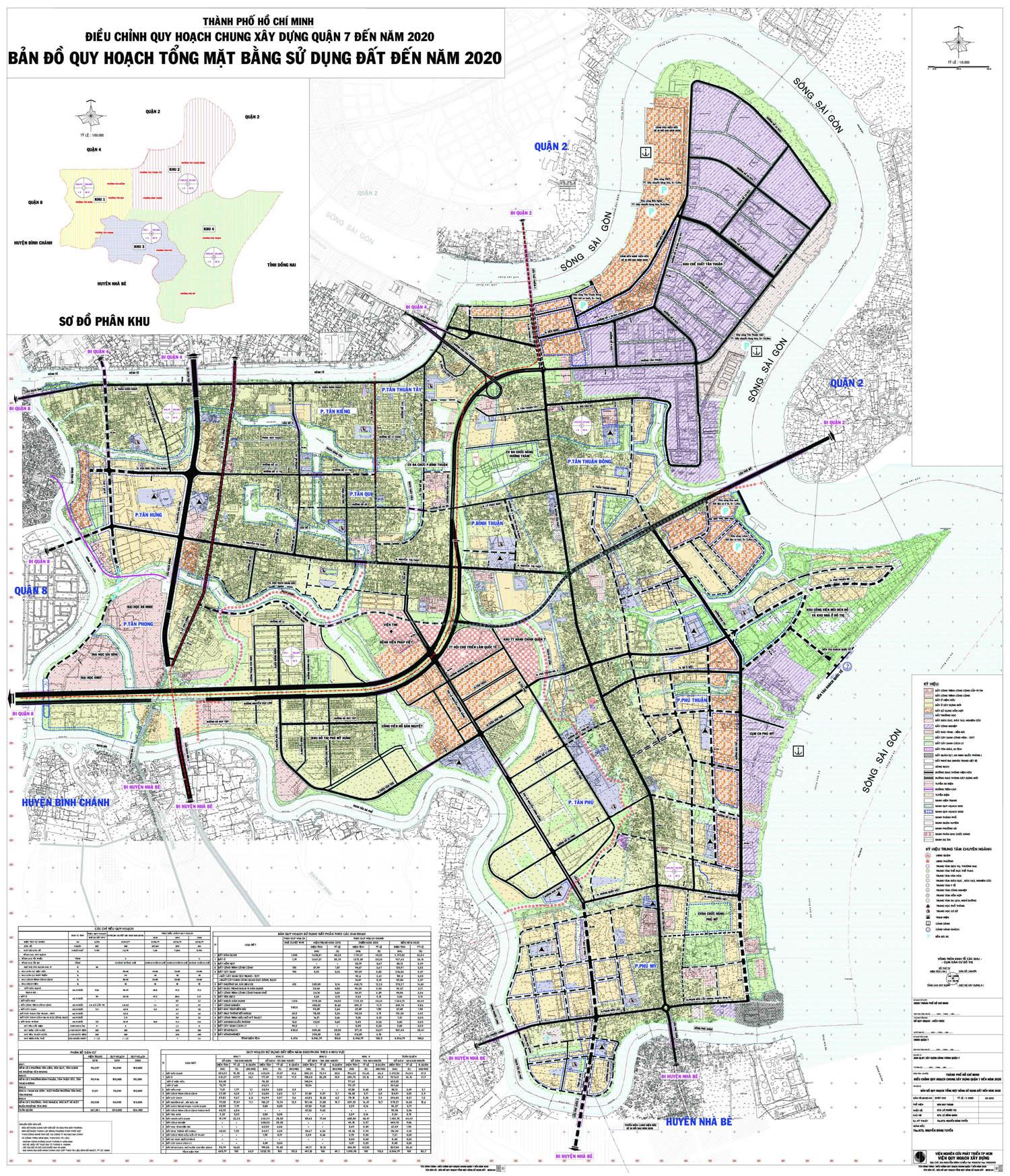 Thông tin quy hoạch quận 7 – Mới Nhất đến 2020